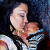 Commission JJ and Holly Oil on Canvas, Jessica Siemens 2009.JPG