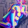 Portrait soft pastels on brown paper 18''x20'' Jessica Siemens 2008