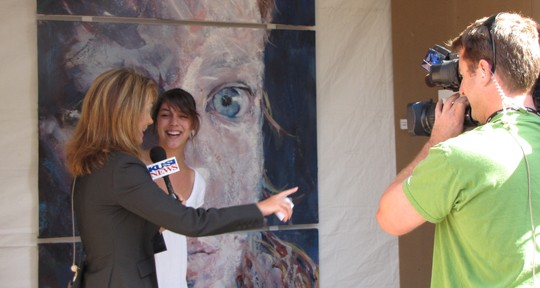 Jessica and Lena Lewis from KUSI San Diego at ArtWalk