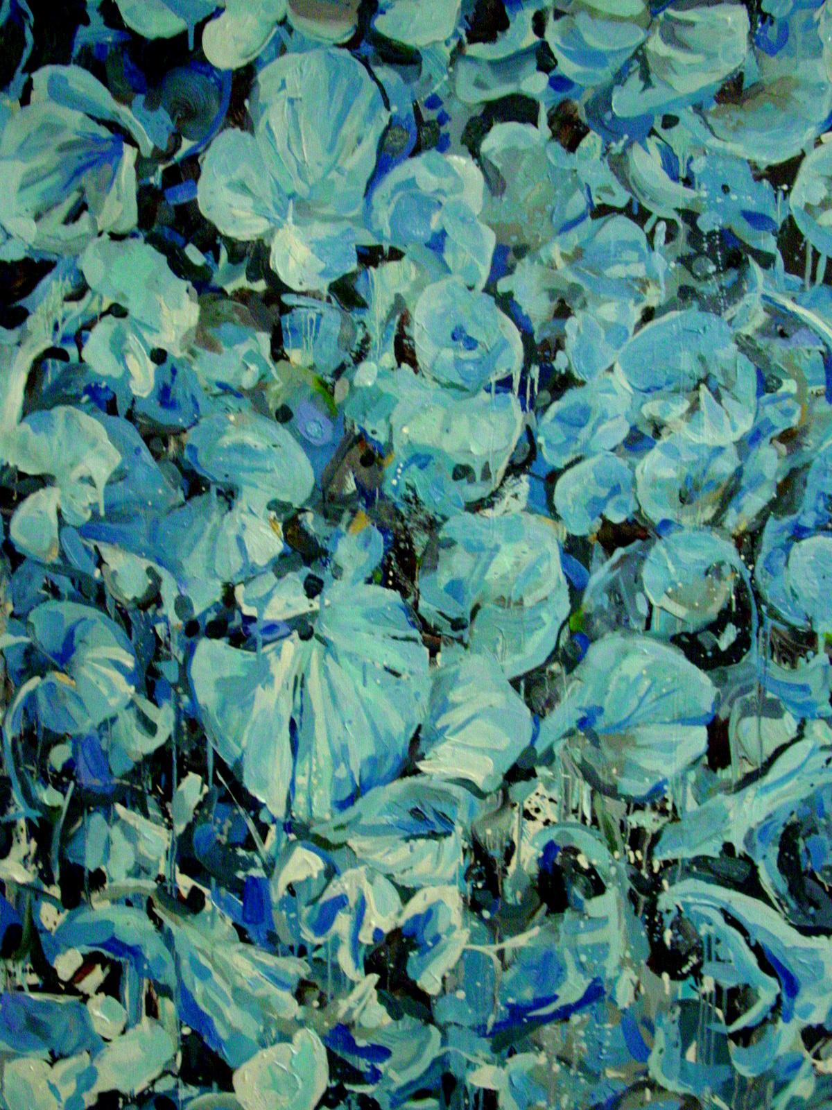 on leaf blue - photo #13