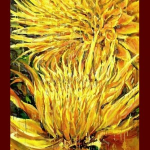 Sold Painting 9ft Tall Giant Yellow Flowers
