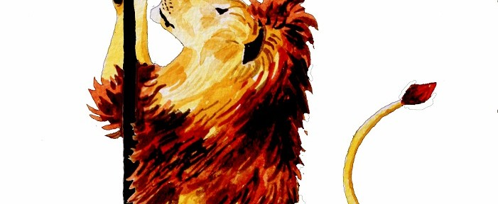 Brooklyn Lion watercolor Jessica Siemens 2011
