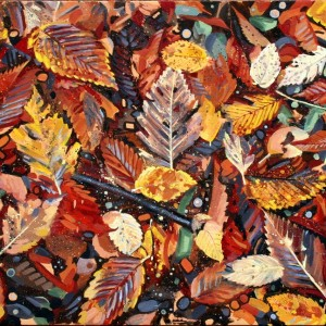 Autumn Leaves oil on canvas 24x48 in Jessica Siemens 2011