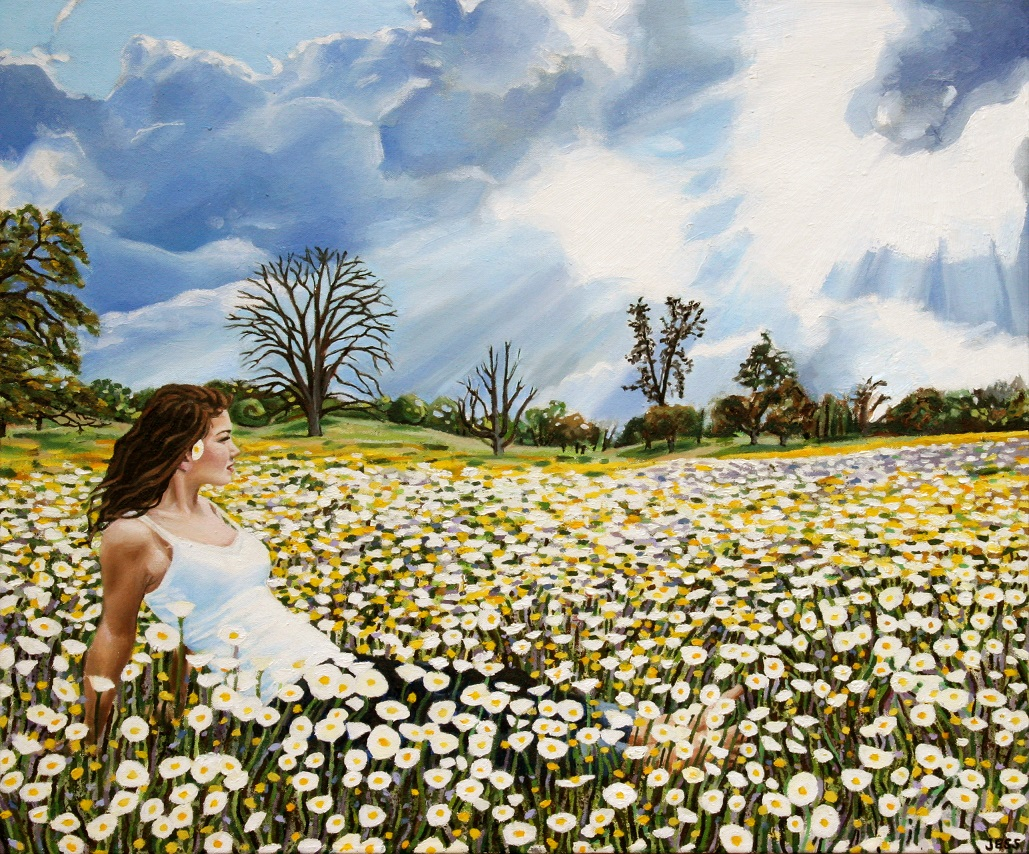 Susanna in a Field of Flowers, oil on canvas, 20x24in, Jessica Siemens 2012 (2)